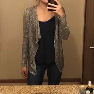 WHBM knit sequin cardigan XS office business
